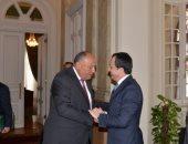 المتحدث باسم الخارجية ينشر صور لقاء وزير الخارجية المصرى بنظيره القبرصى