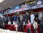 طابور عرض للمدن والأحياء وشرطة المسطحات فى احتفال سوهاج بعيدها القومى