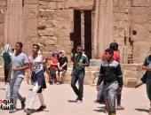 صور.. أعياد الربيع بالأقصر ترفع زيارات السياح لمعدلات تاريخية