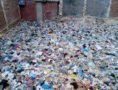 صور.. شكوى من انتشار القمامة بشارع العبانى فى بحرى بالإسكندرية