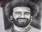 بعد فوز ليفربول.. قارئ يرسم بورترية لمحمد صلاح