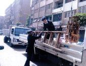 صور.. تنفيذ 1733 قرار إزالة وضبط 130 بائعا ورفع 11 عربة مأكولات بالقاهرة