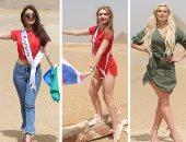 صور.. 60 ملكة جمال يروجن للسياحة من الأهرامات وأبو الهول