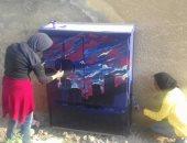 مبادرة من طلاب كليات الفنون الجميلة لتزيين محولات الكهرباء بالشيخ زايد
