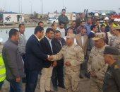 اللواء كامل الوزير يتفقد مشروع مدينة الأثاث بدمياط