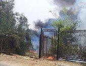 السيطرة على حريق شب بمخلفات أرض زراعية بوادى النطرون بالبحيرة