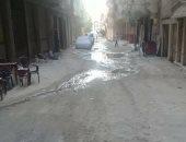 شكوى من مياه الصرف الصحى بشارع متولى الشعراوى فى الإسكندرية