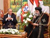 البابا تواضروس للرئيس البرتغالى: نؤيد الرئيس والحكومة لبناء مصر جديدة