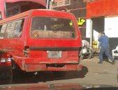 صور..شكوى من تهالك سيارات الأجرة بترعة المحمودية فى الإسكندرية