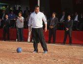 شاهد لمسات وزير التعليم العالى فى مباراة لكرة القدم أمام منتخب الجامعات