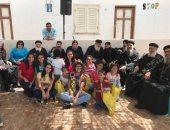 أسقف كنائس غرب الإسكندرية يلتقى الأطفال الأيتام بمنطقة الهوارية