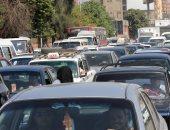 توقف حركة المرور أعلى كوبرى أكتوبر بسبب سيارة ملاكى معطلة