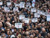 صور.. مظاهرات حاشدة فى إسطنبول ضد تمديد حالة الطوارئ بتركيا