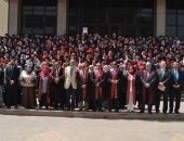 صور.. محافظ الغربية ورئيس جامعة طنطا يشاركا فى حفل تخريج الدفعة 40 صيدلة