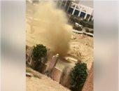 تداول فيديو لكسر فى خط غاز بجوار مدرسة بمدينة 6 أكتوبر