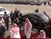"""السيسى يصل مقر تدريبات """"درع الخليج"""" لحضور الفعالية بمشاركة القادة العرب"""