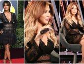 نوال الزغبى ترتدى نفس فستان هالى بير بتوقيع زهير مراد