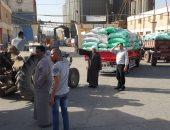 تموين كفر الشيخ : توريد 2563 طناً و453 كيلو قمح للصوامع والشون من المزراعين