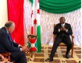صور.. وزير الخارجية ينقل رسالة شفهية من الرئيس السيسي لرئيس بوروندى
