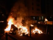 صور.. آثار اشتباكات عنيفة بين متظاهرين والشرطة الفرنسية على خلفية وفاة سجين