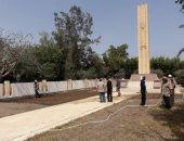 صور.. تجهيز ساحة الجندى المجهول بالعريش استعدادا لاحتفالات تحرير سيناء