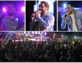 """""""ساعة ونصف من الغناء المتواصل"""".. رامى جمال فى حفل غنائى مع الشباب"""
