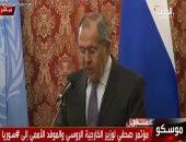 سيرجى لافروف: الضربة العسكرية على سوريا نسفت عملية السلام