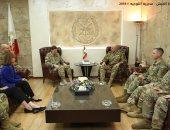 صور.. قائد الجيش اللبنانى يستقبل الجنرال الأمريكى فوتل وسفيرة كندا ببيروت