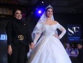 للعرائس فقط.. أديبة المحجوب تشعل أسبوع الموضة الأردنى  بمجموعة فساتين الزفاف