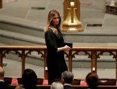 صور.. ميلانيا ترامب تصل الكنيسة الأسقفية لتقديم واجب العزاء فى باربرا بوش