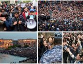 الآلاف يتظاهرون فى أرمينيا دعما لانتخاب زعيم المعارضة رئيسا للوزراء