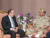 صور .. محافظ بنى سويف يستقبل رئيس أركان قوات الدفاع الشعبى والعسكرى