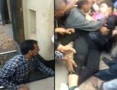 فيديو.. سقوط فتاة تحت القطار بمحطة بلبيس فى الشرقية.. والأهالى ينقذونها