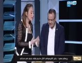 """ريهام سعيد تفاجئ القرموطى باقتحام برنامجه """"مانشيت"""" وتهديه """"شيكولاتة"""""""