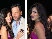 ماجد المصرى وزوجته يدعمان حفل مستشفى المنصورة رغم إصابتها