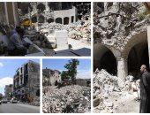 الجيش الروسى يوزع 3.8 طن من المواد الغذائية فى حمص السورية