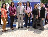 صور.. مؤسسة شباب القادة تشارك بملتقى توظيف جامعة القاهرة بحضور غادة والى
