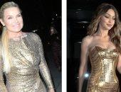 صور.. فستان جى جى حديد الذهبى خلال عيد ميلادها محط مقارنة مع والدتها