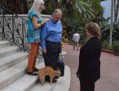صور.. جيهان السادات ترفض سفر القطة مشمشة إلى أمريكا