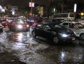 ننشر أماكن تجمعات لمياه الأمطار فى العاصمة أدت للزحام المرورى
