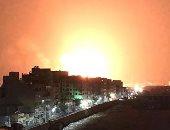 صور.. اندلاع حريق هائل فى مصنعين للأخشاب و المواد البترولية بالبساتين