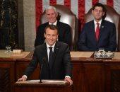 صور.. ماكرون: الكونجرس الأمريكى معقل الديمقراطية وعلاقتنا بواشنطن تاريخية