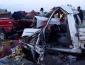 """إصابة شابين فى حادث انقلاب سيارة من أعلى كوبري """"56"""" بالعاشر من رمضان"""