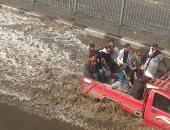 """""""معلومات الوزراء"""" ينشر فيديو لشوارع التجمع الخامس بعد سحب كميات مياه الأمطار"""