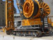 صور.. وصول ماكينة الحفر العملاقة لحى الزمالك لإنشاء محطة مترو الأنفاق