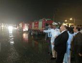 صور.. مدير أمن القاهرة يتفقد الحالة المرورية ويوجه بسرعة شفط مياه الأمطار