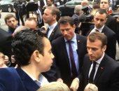 """باحث مصرى بواشنطن يستوقف ماكرون: """"انتبهوا للأبرياء فى سوريا"""" (فيديو)"""