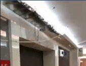 """فيديو وصور.. إخلاء مول """"بوينت 90"""" بعد انهيار بالأسقف بسبب شدة الأمطار"""