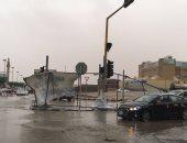 """فيديو.. عاصفة رعدية تحول مدن سعودية إلى ظلام دامس """"فى عز الظهر"""""""