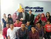 صور.. طلاب جغرافيا جامعة طنطا يحتفلون بتخرجهم مع أطفال مستشفى 57357